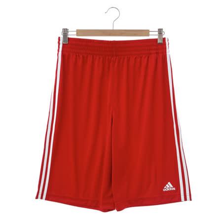adidas (男)基本款排汗運動短褲-紅-E71823
