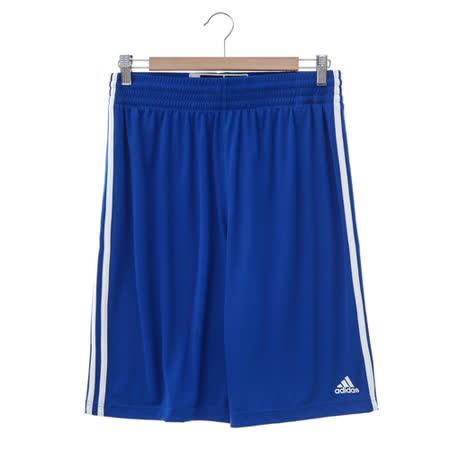adidas (男)基本款排汗運動短褲-藍-E71824