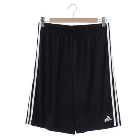 adidas (男)基本款排汗運動短褲-黑-E71825