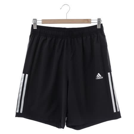 adidas (男)運動舒適短褲-黑-S18211