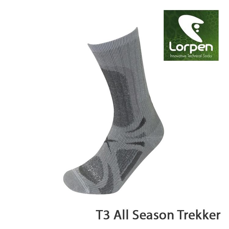 Lorpen T3 登山健行襪 T3EMC城市綠洲