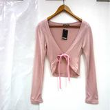 【CIELO】 棉質綁結罩衫小外套-粉色/F