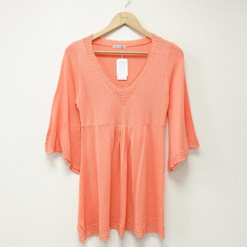 ~portcros~花邊領蕾絲袖口洋裝~橘M