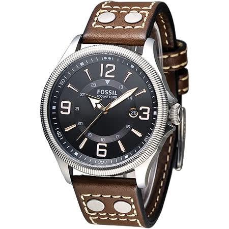 【勸敗】gohappyFOSSIL 風格至上復古型男腕錶-黑面/褐帶(FS4962)價格遠東 巨 城 sogo