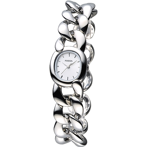 FOSSIL 龐德女郎 手鍊女錶~銀白面^(ES3458^)