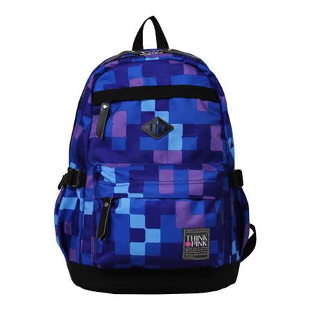 【THINK PINK】幻彩系列 第二代加強版 輕量後背包-方格紫