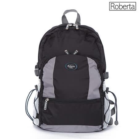 【Roberta】小背包 安心背開拉鍊 輕量防潑水(黑色103-010)
