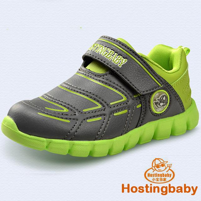 【Hostingbaby小寶當家】2023灰綠童鞋男童春秋兒童運動鞋女童鞋輕便新款潮鞋休閑旅遊鞋子