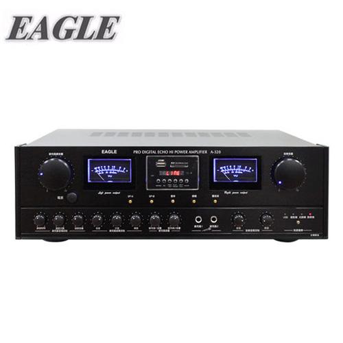 EAGLE 專業級2CH卡拉OK擴大機(A-320) 送EAGLE無線麥克風(EWM-P21V)一組