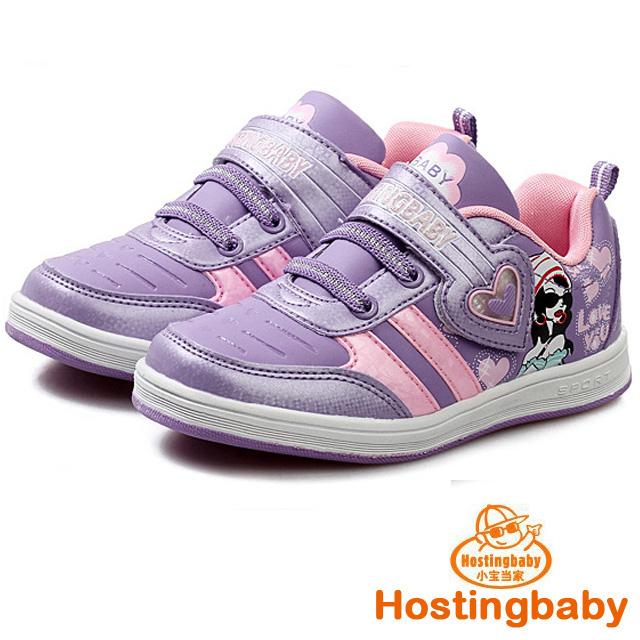 【Hostingbaby小寶當家】5162暗紫色板鞋防滑兒童運動鞋女童鞋春秋新款旅遊波鞋子韓版潮