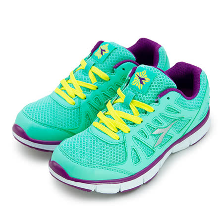 【女】 DIADORA 專業輕量慢跑鞋 時尚亮色系列 綠紫黃 2825