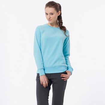 【hilltop山頂鳥】女款圓領刷毛保暖上衣H51FE7-水藍
