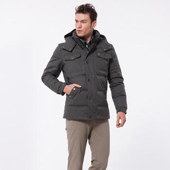 【hilltop山頂鳥】男款蓄熱羽絨外套F22MQ8-羊毛灰