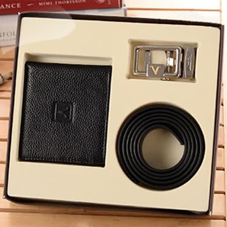 【Valentino Rudy】 范倫鐵諾.路迪 紳士短夾自動皮帶禮盒(兩款任選)