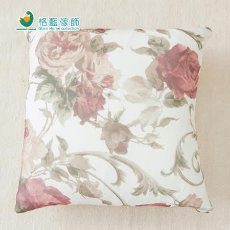 【格藍】印花抱枕套(42x42CM)-玫瑰紅