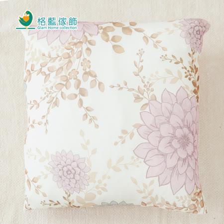 【格藍】印花抱枕套(42x42CM)-春雅粉