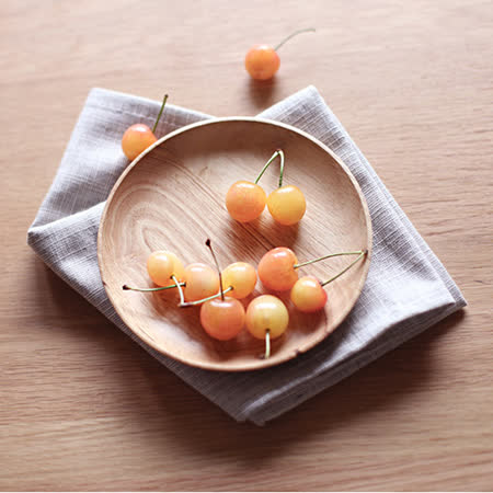 【Homely Zakka】木趣食光木質小碟(大圓)