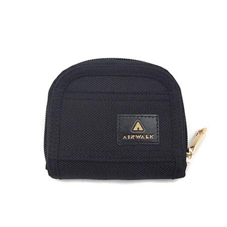 AIRWALK - 輕巧簡約 實用零錢卡包 - 黑