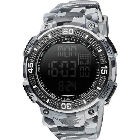 Timberland CADION 系列多功能數位腕錶-迷彩灰/51mm TBL.13554JPGY/02A
