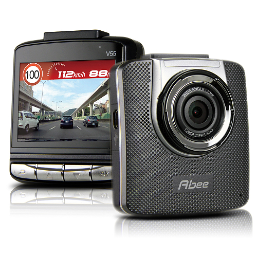 快譯通 Abee V55 HDR測速 Super HD1296P高畫質行車記錄器(含行車紀錄器 記憶卡16GC10記憶卡)