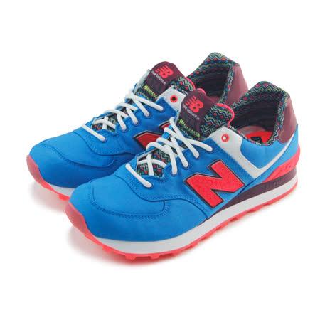 (女)NEW BALANCE 復古鞋 藍/紅-WL574SBE