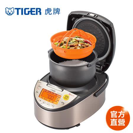 (日本製)TIGER虎牌10人份高火力IH多功能電子鍋(JKT-S18R)買就送0.8L快煮壺(隨機出貨)+料理專用食譜