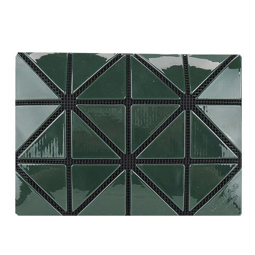 ISSEY MIYAKE 三宅一生 BAOBAO幾何方格3x4名片夾(深綠)