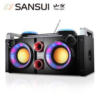 網購嘉年華 山水SANSUI 音霸藍芽/廣播/USB/AUX/卡拉OK隨身音響 SBK777