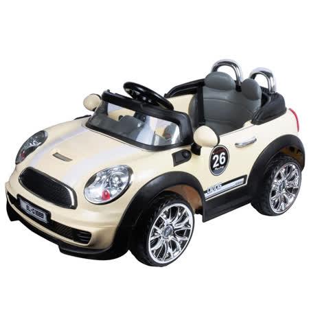 寶貝樂 mini附遙控兒童電動車-米色