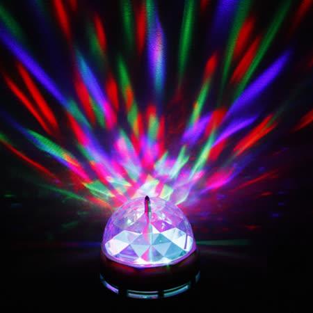 迷你E27 LED七彩旋轉彩色球泡燈
