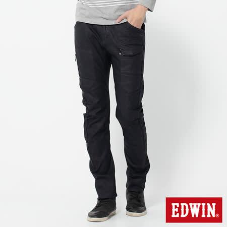 EDWIN E-F貼袋機能3D窄直筒牛仔褲-男-原藍色