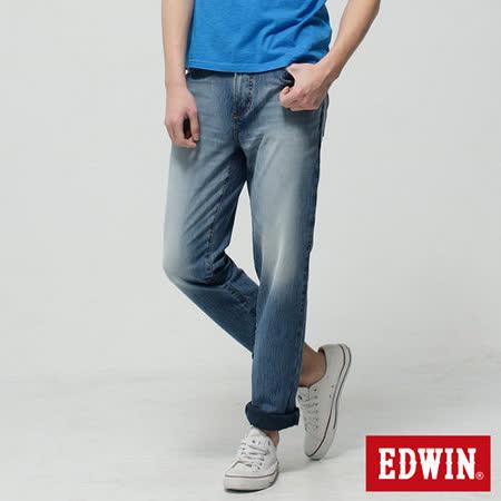 EDWIN 迦績褲JERSEYS圓織AB牛仔褲-男-拔淺藍