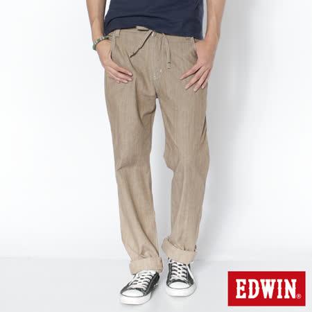 EDWIN EASY PANTS中直筒休閒褲-男-淺卡其