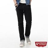 5th STREET 街霸合身窄直筒牛仔褲-男-原藍色