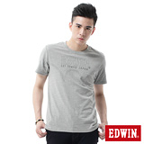 EDWIN LOGO印花短袖T恤-男-麻灰色