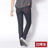 EDWIN MISS EDGE袋蓋小直筒牛仔褲-女-原藍色