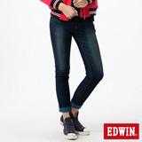 EDWIN JERSEYS迦績褲TWO TONE針織牛仔褲-女-寶石藍