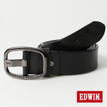 EDWIN 皮帶 雙W棒蕊皮帶-男-黑色