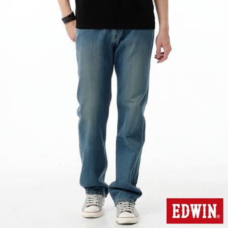 EDWIN REBEL基本五袋直筒牛仔褲-男-中古藍