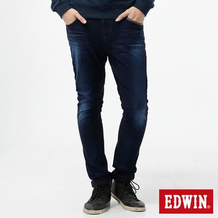 EDWIN 迦績褲 CARGO窄直筒牛仔褲-男-酵洗藍