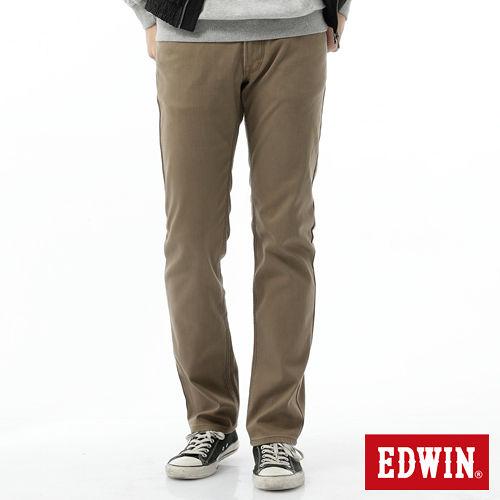EDWIN EDGE中直筒保溫褲~男~褐色