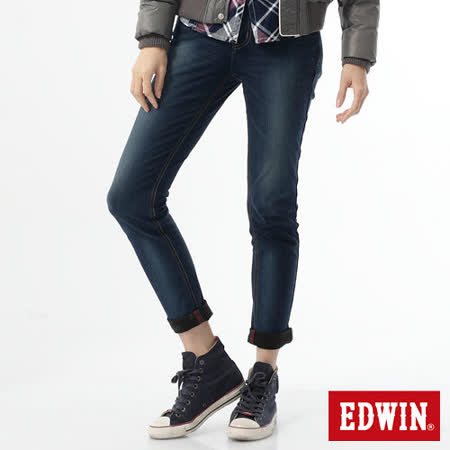 EDWIN 503迦績褲JERSEYS保溫褲-女-石洗綠