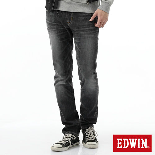 EDWIN BLUE TRIP 窄直筒牛仔褲-男-灰色