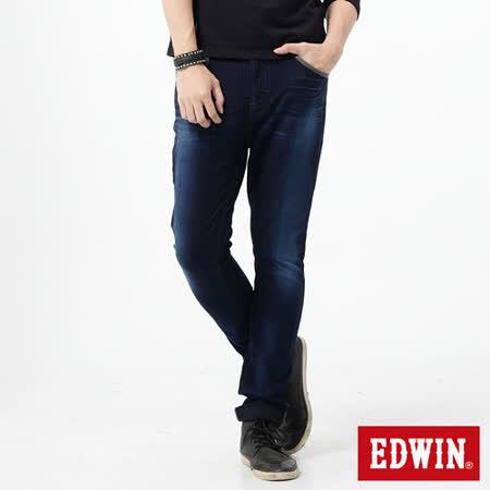 EDWIN 大尺碼 迦績褲 CARGO窄直筒牛仔褲-男-酵洗藍