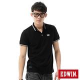 EDWIN 簡潔都會短袖POLO衫-男-黑色