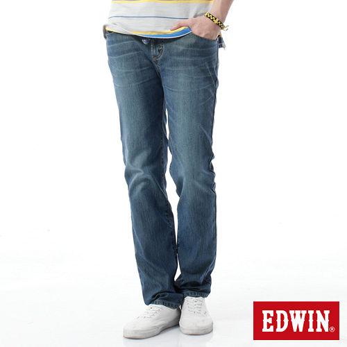EDWIN 迦績褲JERSEYS全黑腰頭牛仔褲-男-石洗綠
