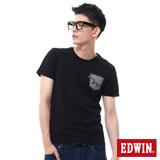 EDWIN EDGE貼袋短袖T恤-男-黑色
