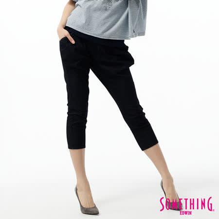 SOMETHING LADIVA飛鼠七分褲-女-原藍色