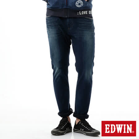 EDWIN 大尺碼 迦績褲 CARGO窄直筒牛仔褲-男-拔洗藍