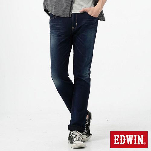 EDWIN 迦績褲JERSEYS紅布邊牛仔褲-男-酵洗藍